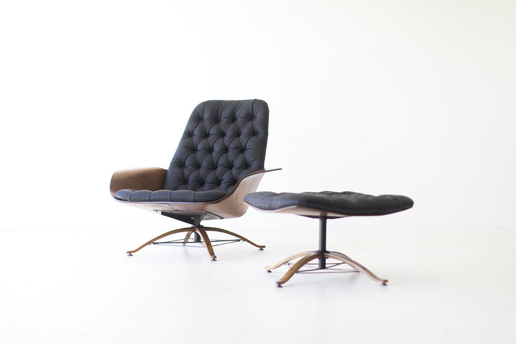 George Mulhauser Lounge Chair And Ottoman For Plycraft   08101701
