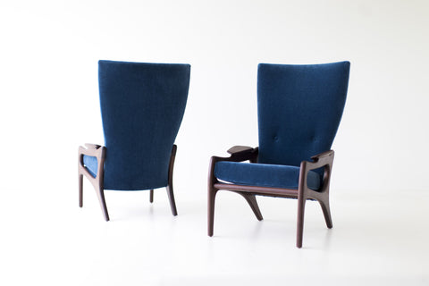 Modern Lounge Chairs - 1604 - Craft Associates® High Backs