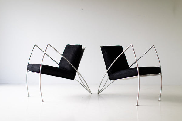 Groovy Modern Steel Studio Lounge Chairs By Stephen K Stuart 11211802 Gmtry Best Dining Table And Chair Ideas Images Gmtryco