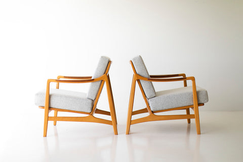 Tove & Edvard Kindt-Larsen Lounge Chairs for France & Daverkosen - 09201804