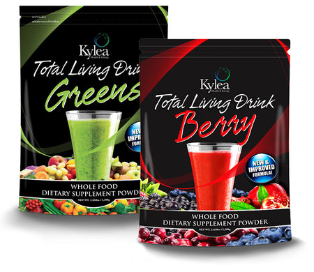 Total Living Drink Greens & Total Living Drink Berry Combo Pack ($30 Off)