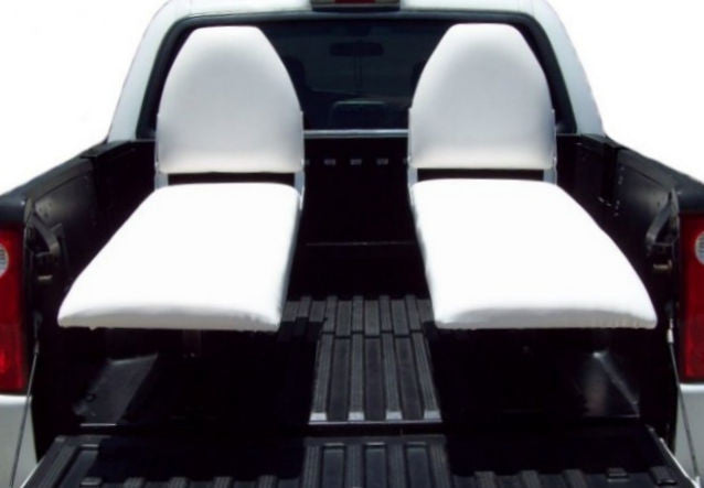 White Bucket Recliner Truck Bed Seats