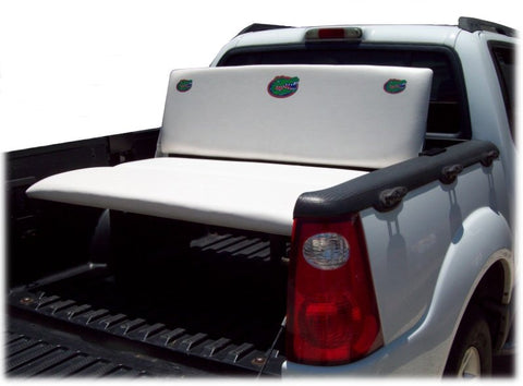 Bench recliner truck bed seats