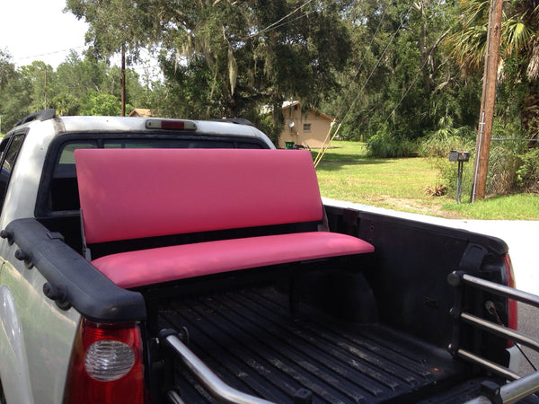 Truck Bed Seat Bench Style Light Red