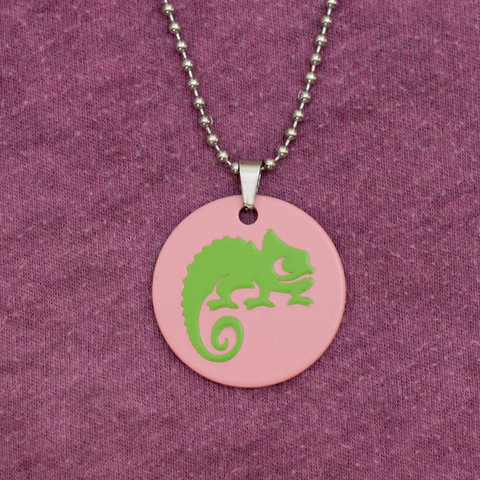 Chameleon Companion - Handmade Necklace
