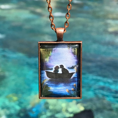 """Blue Lagoon"" - Cabochon Necklace"