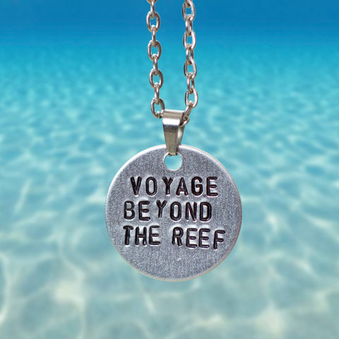 """Voyage Beyond The Reef"" - Hand Stamped Necklace"