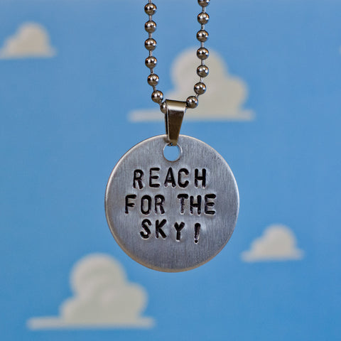 """Reach For The Sky"" - Hand Stamped Necklace"