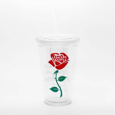 """I Want Adventure"" Rose Tumbler - 16oz"