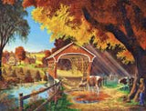 Made in the USA Jigsaw Puzzle - 300 Pc. - Autumn Morning - Amish Baskets and Beyond