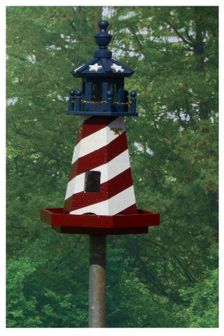 Amish Made 2' Lighthouse Bird Feeder - Amish Baskets and Beyond