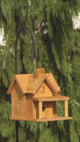 Amish Made Porch and Chimney Bird House - Amish Baskets and Beyond