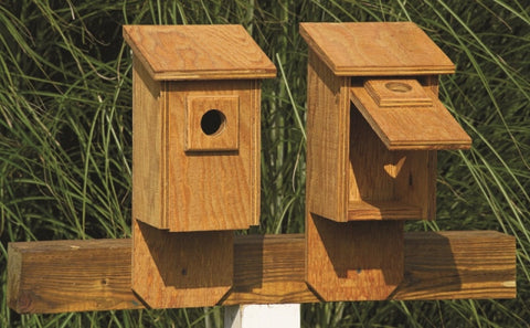 Amish Made Flip Front Bird House - Amish Baskets and Beyond