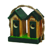 Amish Made His & Hers Outhouse Bird House - Large - Amish Baskets and Beyond
