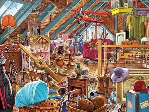 Made in the USA Jigsaw Puzzle - 550 Pc. - Attic Memories - Amish Baskets and Beyond