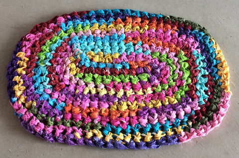 Handmade Amish Knot Rug - Bright Multi - Amish Baskets and Beyond