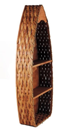 Amish Handmade Boat Basket Shelf - Large - Amish Baskets and Beyond