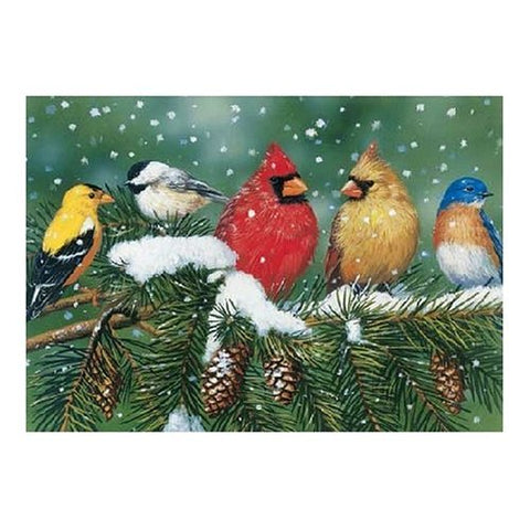 Made in the USA Jigsaw Puzzle - 550 Pc. - Cardinals & Friends - Amish Baskets and Beyond
