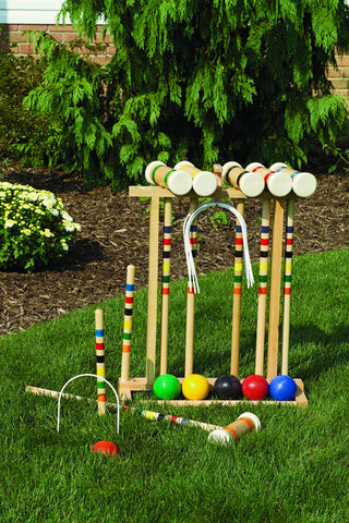 Amish Made Old-Fashioned Wooden Croquet Game - Amish Baskets and Beyond