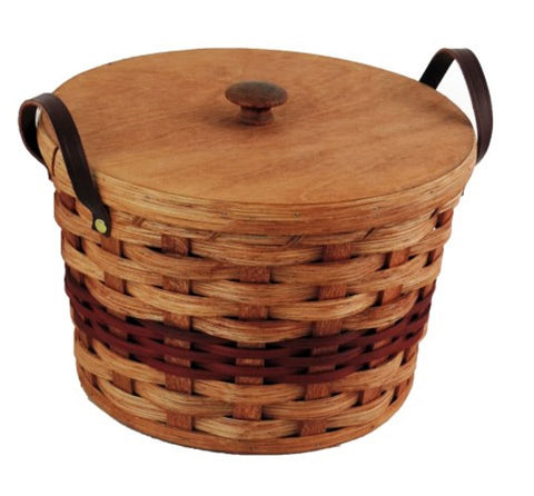 Amish Handmade Cookie Jar Basket - Amish Baskets and Beyond