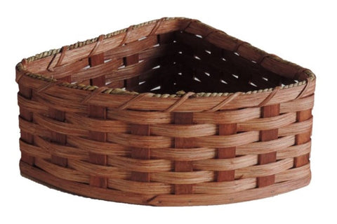 Amish Handmade Corner Basket - Large - Amish Baskets and Beyond