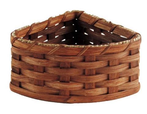 Amish Handmade Corner Basket - Small - Amish Baskets and Beyond