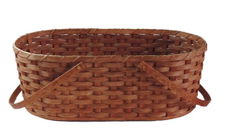 Amish Handmade Doll Carrier Basket - Amish Baskets and Beyond