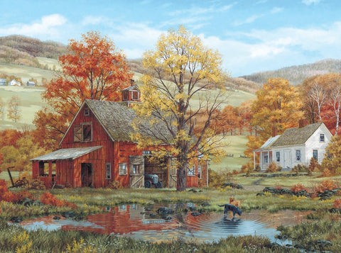 Made in the USA Jigsaw Puzzle - 1000 Pc. - Friends in Autumn - Amish Baskets and Beyond
