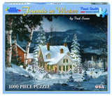 Made in the USA Jigsaw Puzzle - 1000 Pc. - Friends in Winter