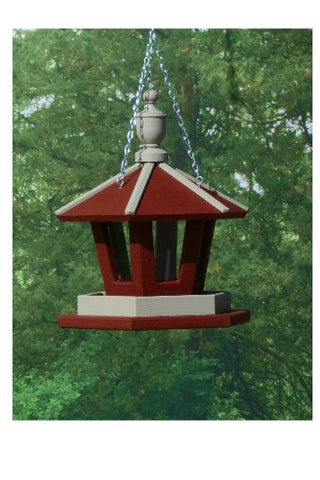 Amish Made Hanging Gazebo Bird Feeder - Amish Baskets and Beyond