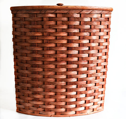 Amish Handmade Corner Hamper Basket - Large - Amish Baskets and Beyond