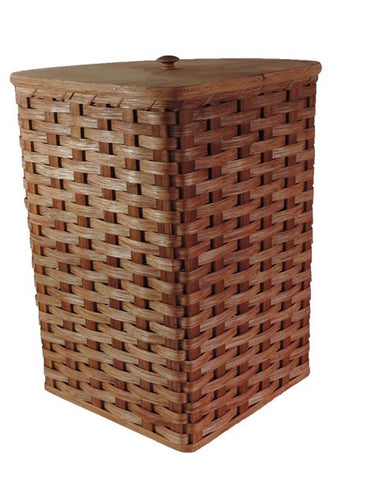 Amish Handmade Corner Hamper Basket - Small - Amish Baskets and Beyond