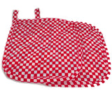 Amish Handmade Reversible Quilted Potholders in Americana - Set of 2