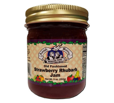 Strawberry Rhubarb Jam- 9 oz - 2 Jars