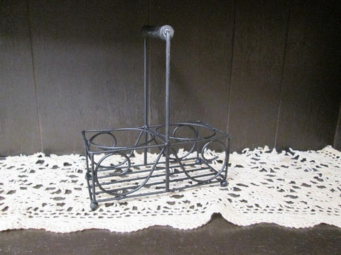Amish Made Wrought Iron Primitive Jar Caddy - Amish Baskets and Beyond