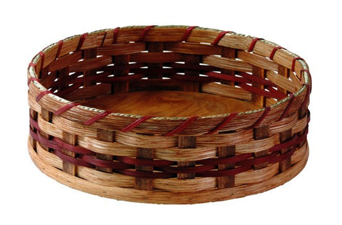 "Amish Handmade Lazy Susan Basket - Large (12"") - Amish Baskets and Beyond"