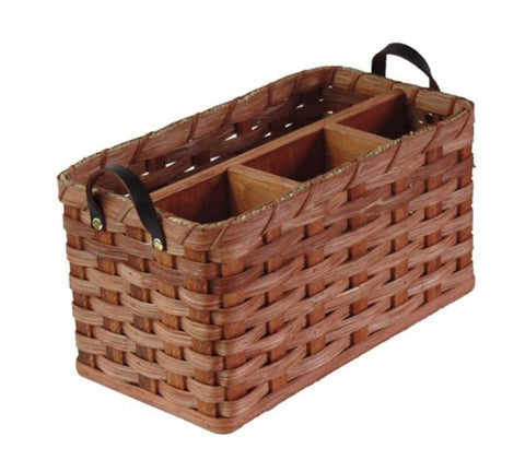 Amish Handmade Organizer Basket - Large - Amish Baskets and Beyond