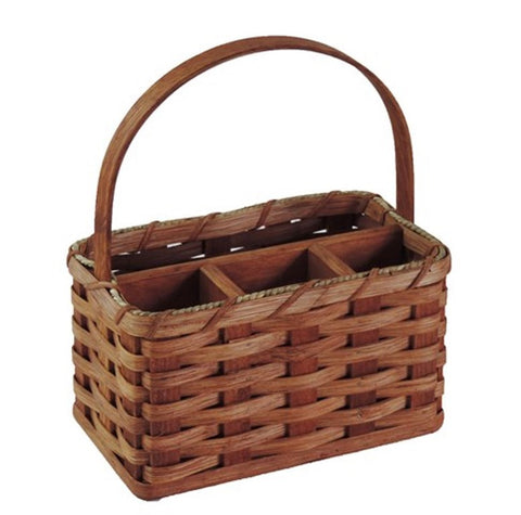 Amish Handmade Organizer Basket - Small - Amish Baskets and Beyond