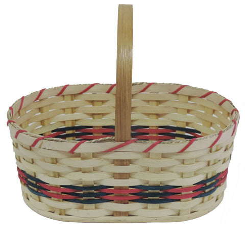 Amish Handmade Oval Easter Basket - Large - Amish Baskets and Beyond