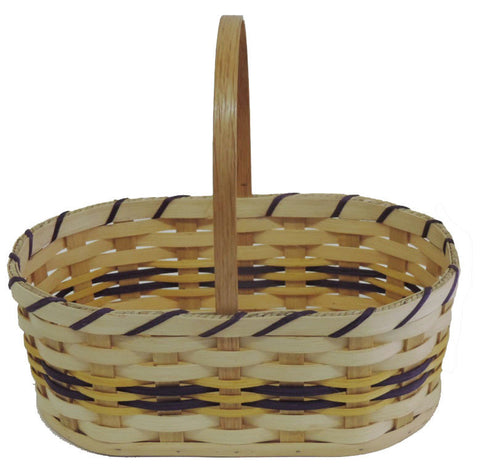 Amish Handmade Oval Easter Basket - Medium - Amish Baskets and Beyond