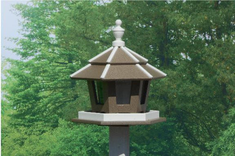 Amish Made Poly 3-Compartment Bird Feeder - Amish Baskets and Beyond