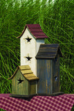 Amish Made Primitive Plain Bird House - Short - Amish Baskets and Beyond