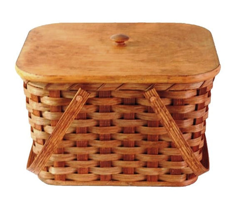 Amish Handmade Picnic Basket - Small - Amish Baskets and Beyond