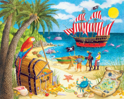 Made in the USA Jigsaw Puzzle - 100 Pc. - Pirate Treasure - Amish Baskets and Beyond