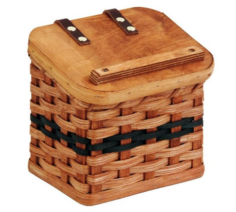 Amish Handmade Recipe Box Basket - Large - Amish Baskets and Beyond