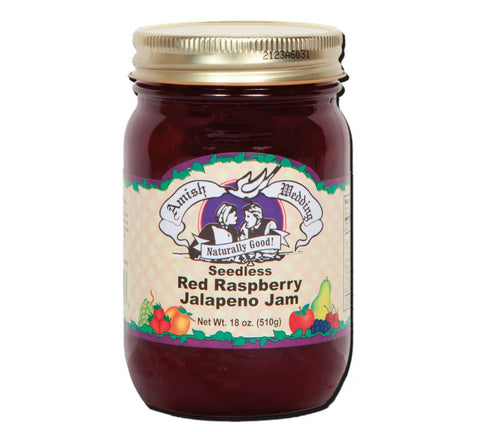 Red Raspberry Jalapeno - Seedless Jam - 18 oz - 2 Jars