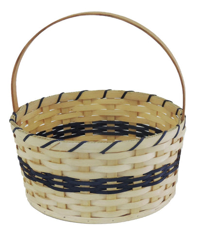 Amish Handmade Round Easter Basket - Large - Amish Baskets and Beyond
