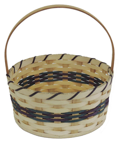 Amish Handmade Round Easter Basket - Medium - Amish Baskets and Beyond
