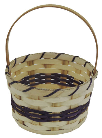 Amish Handmade Round Easter Basket - Small - Amish Baskets and Beyond