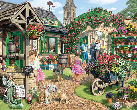 Made in the USA Jigsaw Puzzle - 1000 Pc. - The Garden Shop - Amish Baskets and Beyond